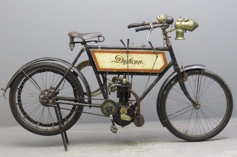 Старинный велоцикл Durkopp 1904