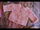 Babytopamelia. Cárdigan / Jersey para bebé tejido a ganchillo /crochet en una sola pieza.