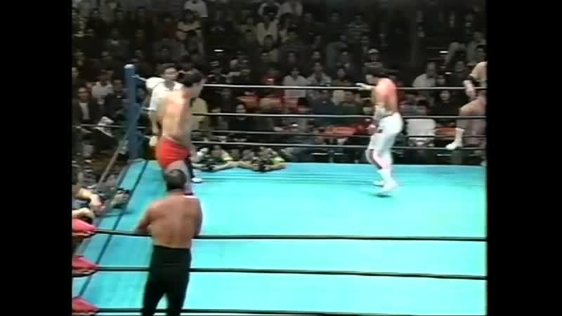 1997.11.16 - Giant BabaRusher KimuraMitsuo Momota vs. Haruka EigenMasanobu FuchiTsuyoshi Kikuchi