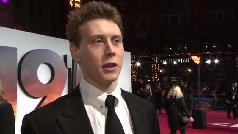 George Mackay 1917 interview at royal premiere
