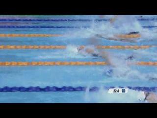 Women's 50m backstroke swimming final singapore 2010