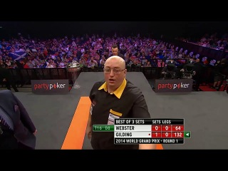 Darren Webster vs Andrew Gilding (World Grand Prix 2014 / First Round)