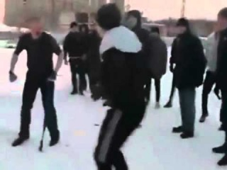 Russian Kid Head Kicked Into Submission