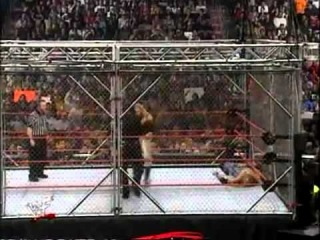 WWF/WWE Unforgiven 2000 - The Hardy Boyz Vs. Edge & Christian Steel Cage Match Part 1