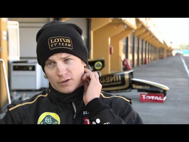Kimi Raikkonen's test session at Valencia 23 01 2012