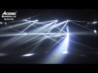 Acme Butterfly Spider W White Multi-Beam LED Effect Light