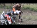 AlphaБаян 12: Девушка упала с мопеда(