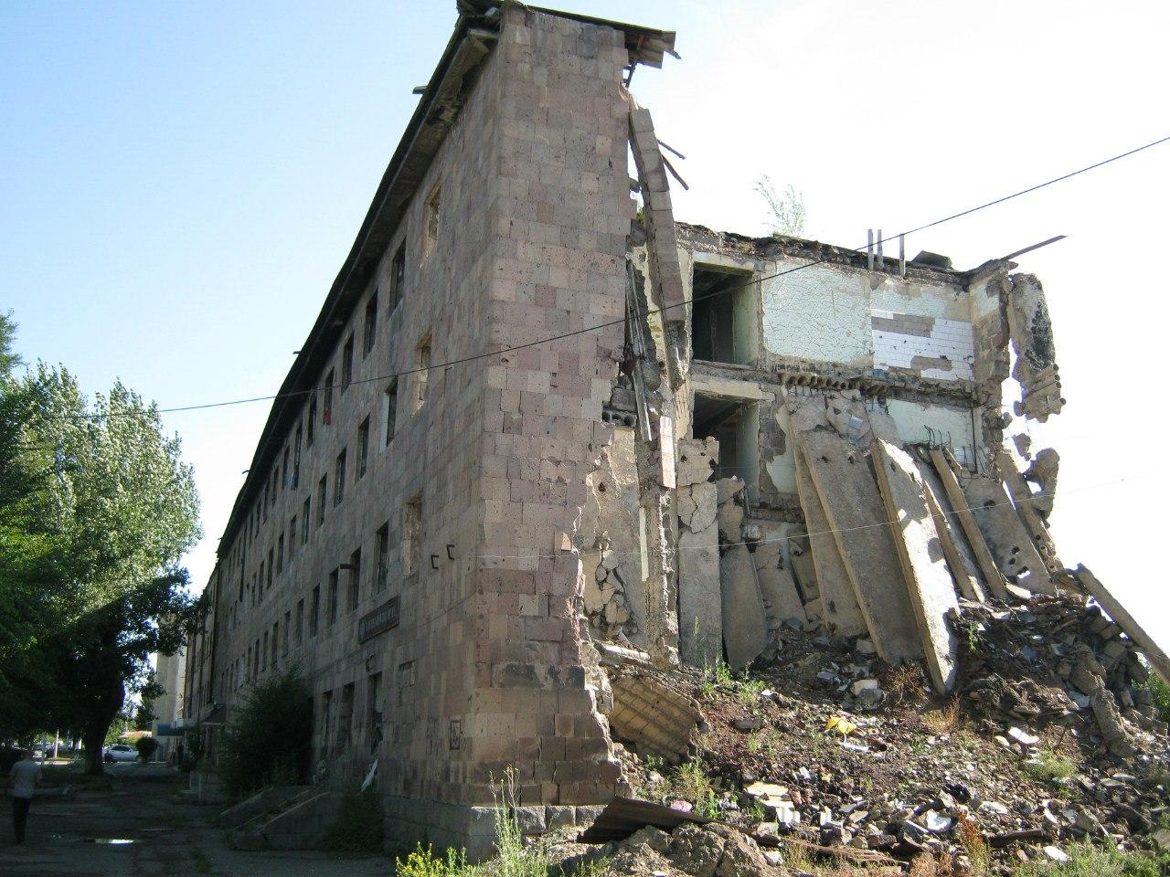 Землетрясение в Гюмри