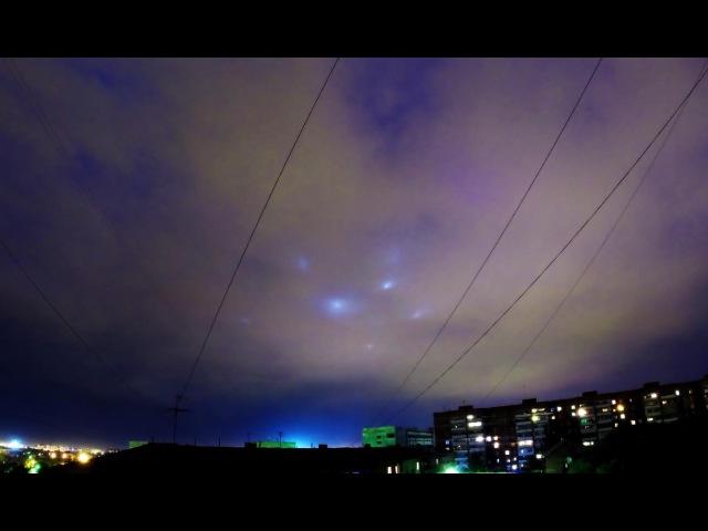 Прожектора в небе над Омском 30-31.05.2015
