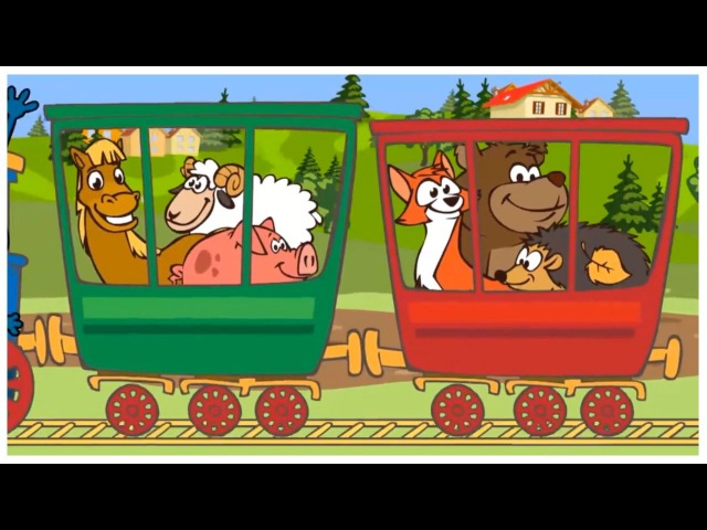 Kids English   Choocha Funnyboy Clown Rides a TRAIN to the ZOO! Interactive Cartoon Games