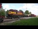 Тепловоз Ц36-7и-1554 в ст. Ракке GE C36-7i-1554 at Rakke station