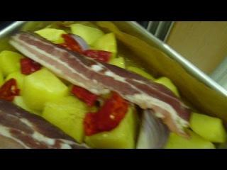 Печеный Картофель с Беконом Patate al forno con pancetta Baked potatoes with bacon