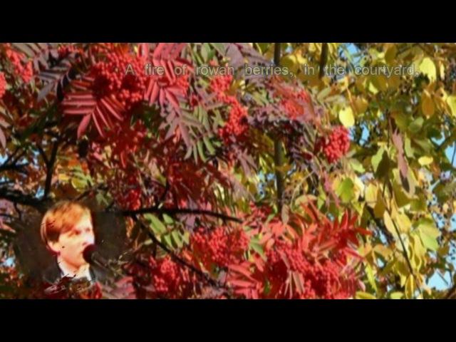 Есенин Отговорила роща Esenin Golden Grove subs by V Chetin