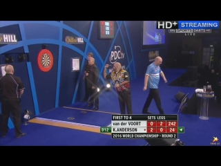 Vincent van der Voort vs Kyle Anderson (PDC World Darts Championship 2016 / Round 2)