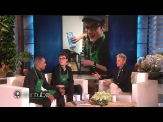 Ellen meets the dancing starbucks barista