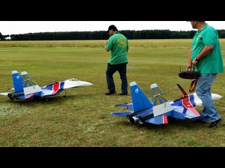 2x RC Sukhoi Su-35 , Super Scale Turbine RC Jet , Modellflugtreffen Damelang 2014 *HD*