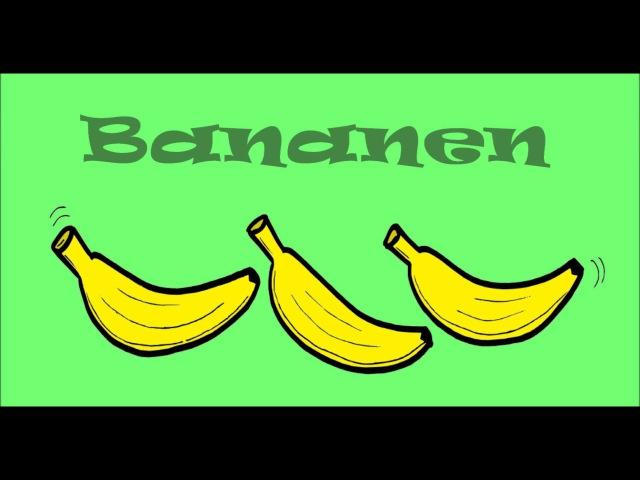 Kinderlied Die Affen fressen Bananen (monkey song in German - la chanson des singes en allemand)