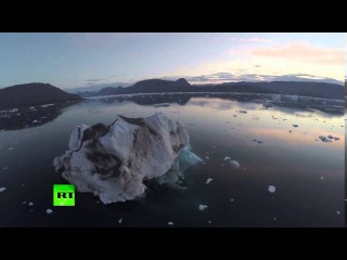 Мировые Новости Беспилотник заснял таяние льдов Арктики