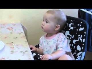 Детский лепет -- Малышка Ритка устроила спор с отцом :) Смешные дети