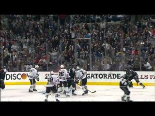 Slava Voynov (5) Goal: (Breaks Stick) Chicago Blackhawks 0 Los Angeles Kings 2. June 4th 2013.
