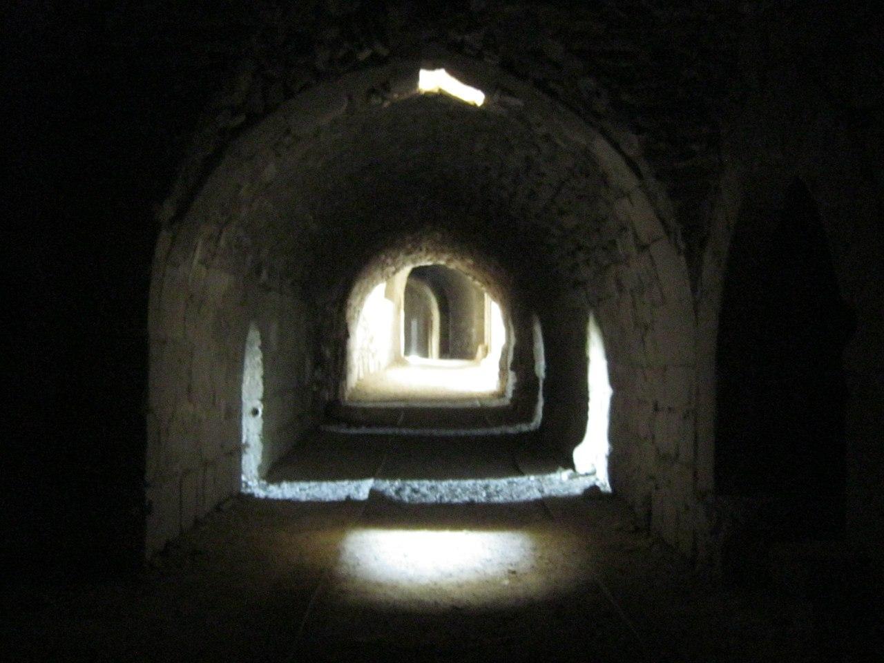 туннель в крепости Керак