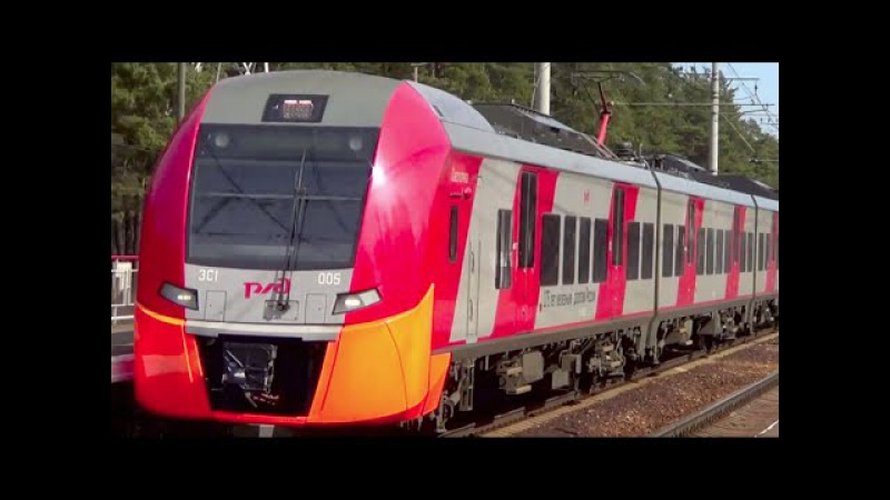 Электропоезда ЭС1-005 ЭС1-020 Ласточка (Train574)