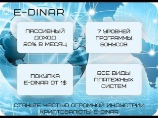Краткая презентация E Dinar Edinar 20% в месяц. #Маркетинг Единара