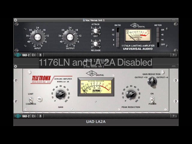 Chaining the 1176LN and LA2A compressors for maximum control.