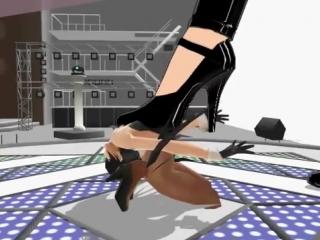 Giantess mmd miku in heels crush