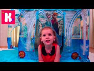 Холодное Сердце Замок Принцессы Эльза и Анна Дисней игрушки Фроузен распаковка конфет Джелли Белли