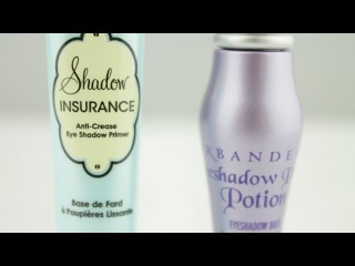 Сравнение баз под тени Urban Decay Primer Potion и Too Faced Shadow Insurance