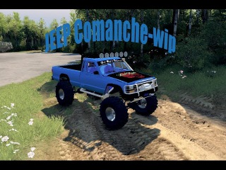 Spin Tires Jeep Comanche wip