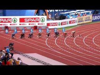 Men's 100m  Semifinal 1 European Athletics Championship Amsterdam 2016