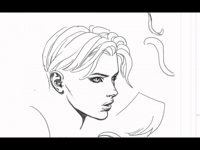 David finch hair drawing tutorial