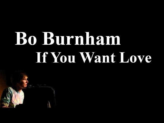 Bo Burnham - If You Want Love (rus sub)