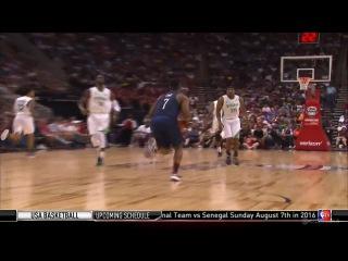 Lowry's Long Range Alley-Oop to Jordan | USA vs Nigeria | 2016 USA Basketball Showcase