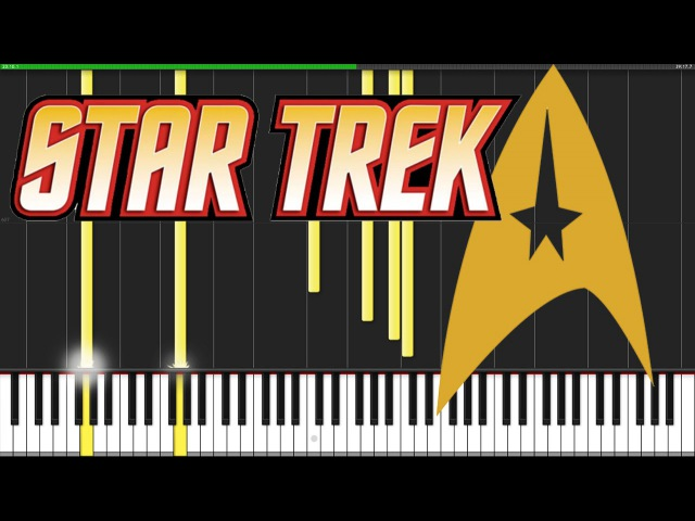Star Trek Medley Piano Tutorial Synthesia David Kaylor