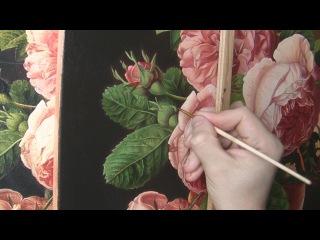 Рисуем листья розы. Полное видео. Часть 1. How to paint a rose leaves