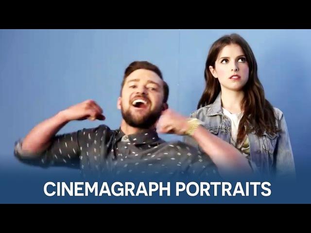 Anna Kendrick Justin Timberlake on Flixel | Comic-Con Cinemagraph Portraits