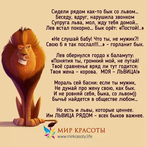 стихи мужчина лев что крайней мере