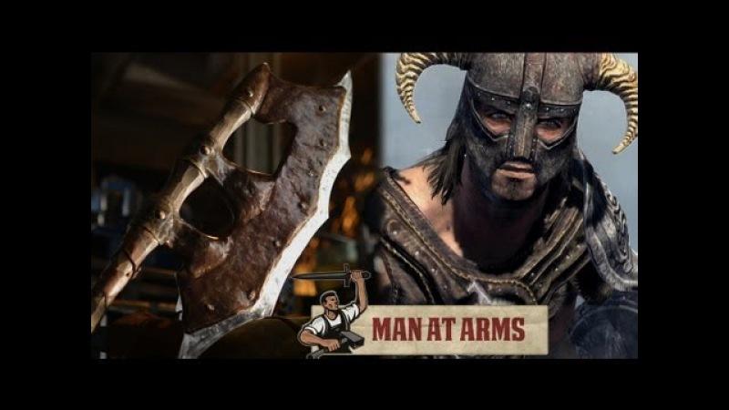 Orcish Battleaxe Skyrim MAN AT ARMS