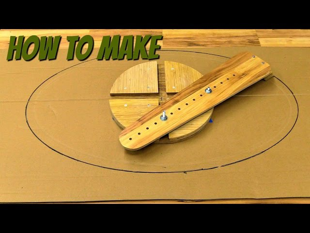 How to make a router jig for making ellipes