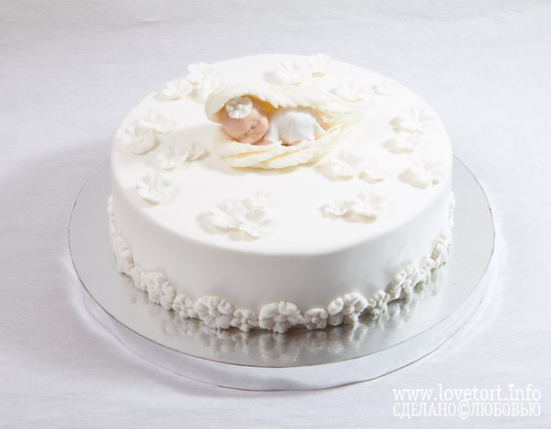 """Торт на крещение """"Крылья ангела"""" cake"""