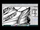 Space alien skull by Robin Clarijs (Speed drawing)