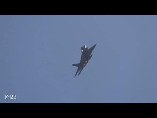 Бой истребителей Ф 22 Раптор против Сухой Т 50 ПАК ФА