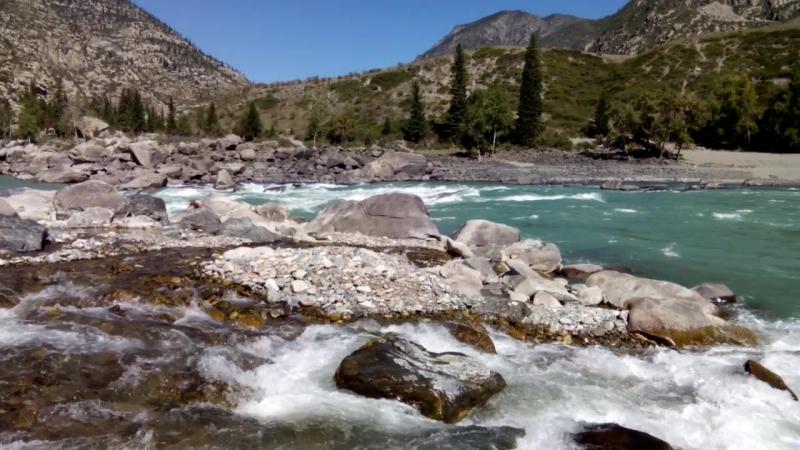 Устье реки Ильгумень в реку Катунь и чудесный камень на берегу