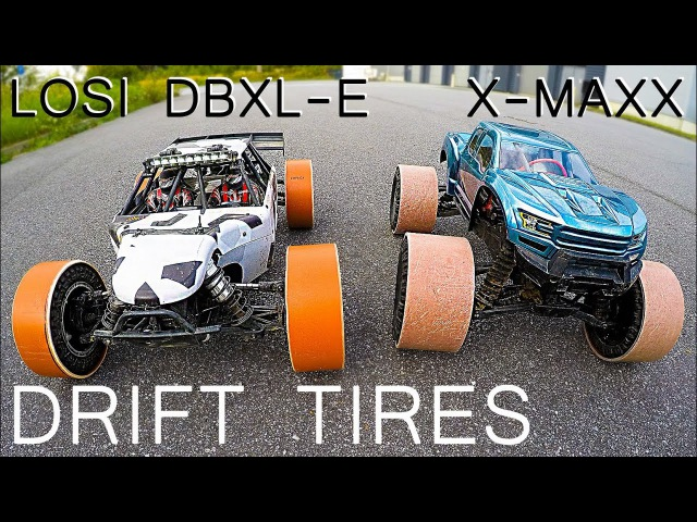 DRIFT X-MAXX and LOSI DBXL-E with DRIFT TIRES SELFMADE 25