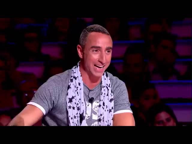 Chris Lynam gets a firecracker in the ass France's Got Talent 2014 audition