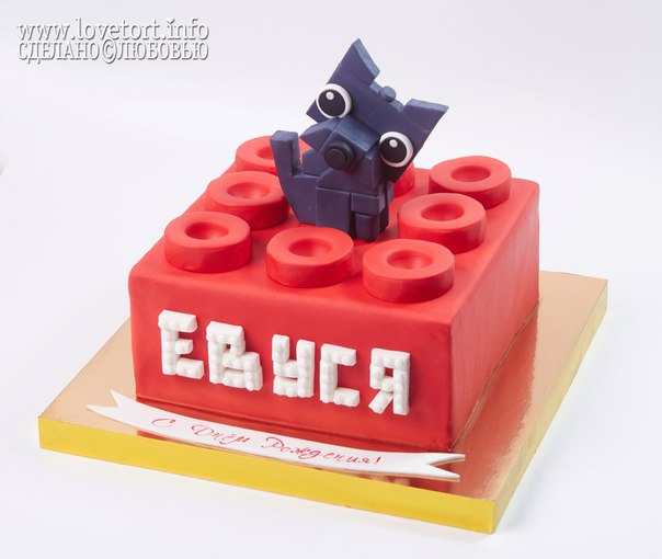 Торт ЛЕГО с собачкой Тото, 3,5 кг cake