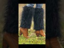 Black fuzzy mohair gaiters by SuperTanya